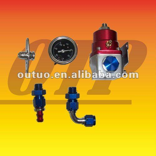 Universal Fuel Pressure Regulator Kit AN -6 Gauge V8 Turbo RX7 EVO