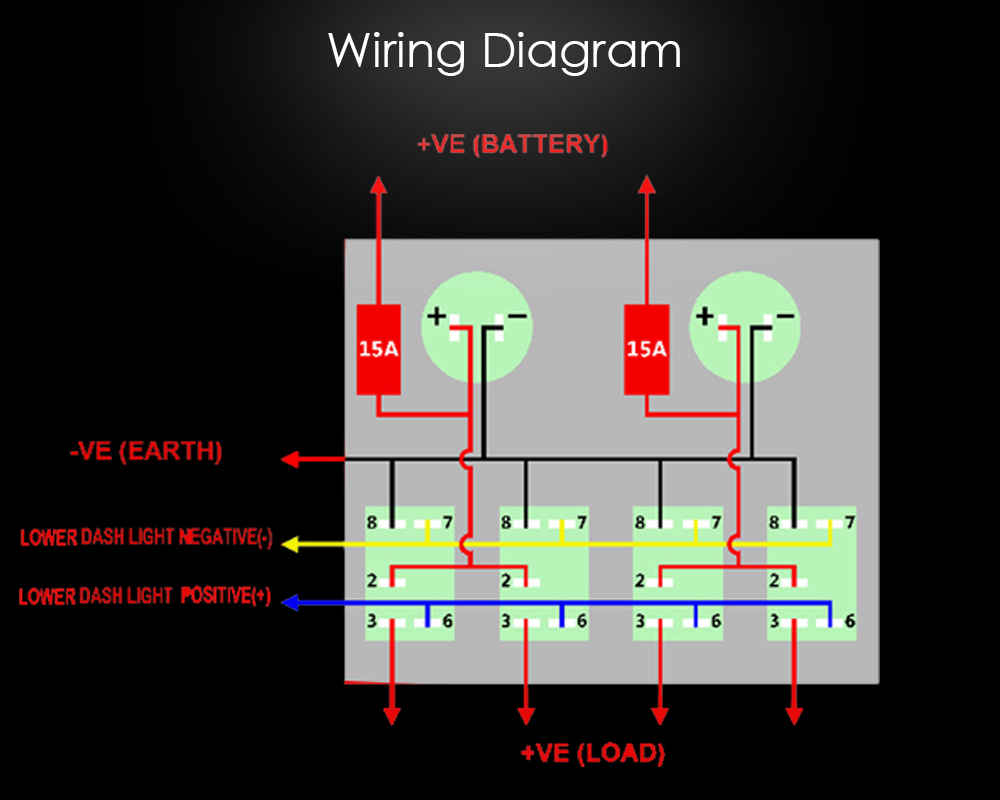 Custom 12 Volt Rocker Switch Panel With Led Light Buy Wiring Diagram