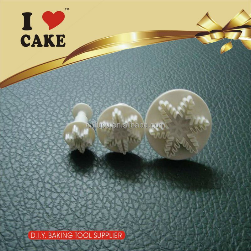 3Pcs Spring plunger knife turned sugar pressed mold sugar cake cake tools