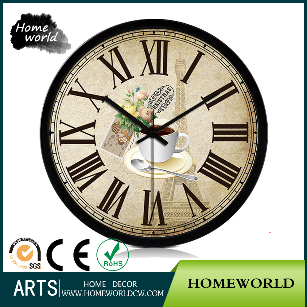 Abstraite antique décoratifs pour la maison cuisine géant moderne horloge murale