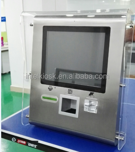 China kiosk manufacturer Outdoor stainless steel payment kiosk with card reader and thermal printer
