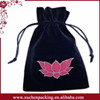 Special Style Best Selling Luxury Black Embroidered Velour Bag For Tarot Card