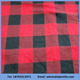 china hebei cheap cotton 20s*10s*40*42 red black plaid flannel fabric 59""
