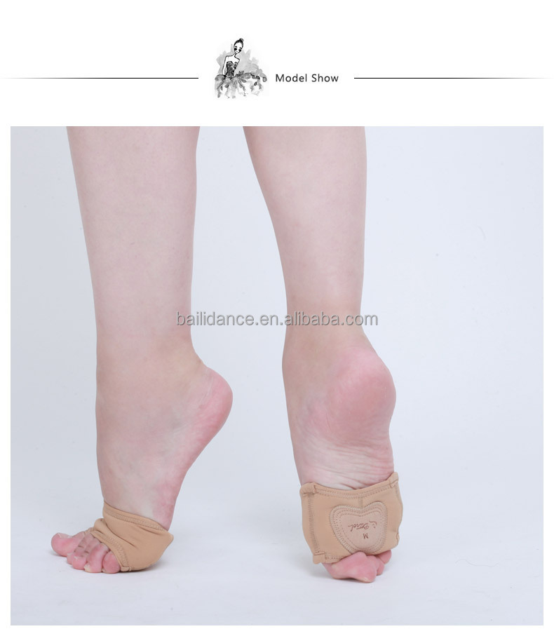 D017001 Dttrol leather lyrical half sole shoe for modern dance shoes