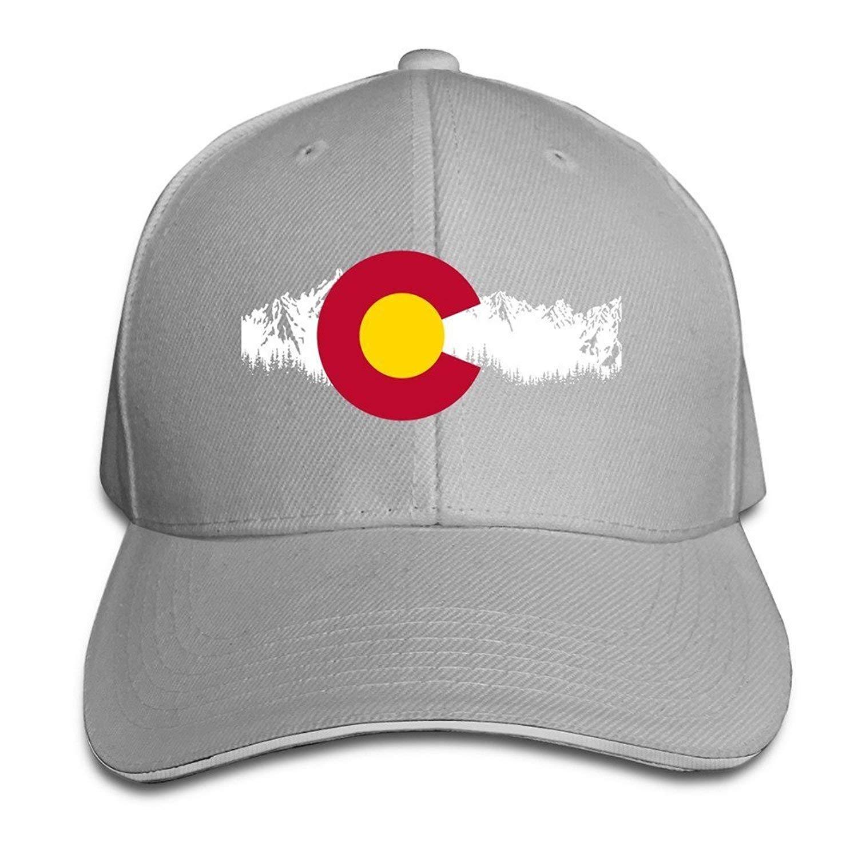 e86dad64221 Get Quotations · BOoottty Colorado State Mountain Flag Flex Baseball Cap  Black