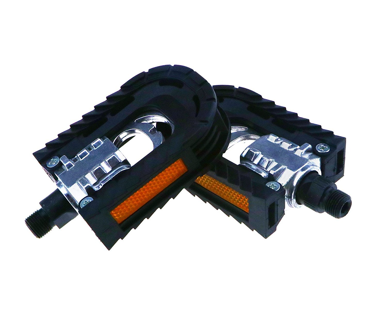 2x Aluminum Alloy Mountain Bike Bicycle Folding Left Right Side Pedals Non-slip