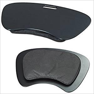 Relaxdays Multi-Purpose Knee Desk for Laptop Tablet Tray Travel Laptop Desk Lapdesk, Black