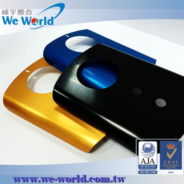 Desirable quality brushed color anodized stamped aluminium case