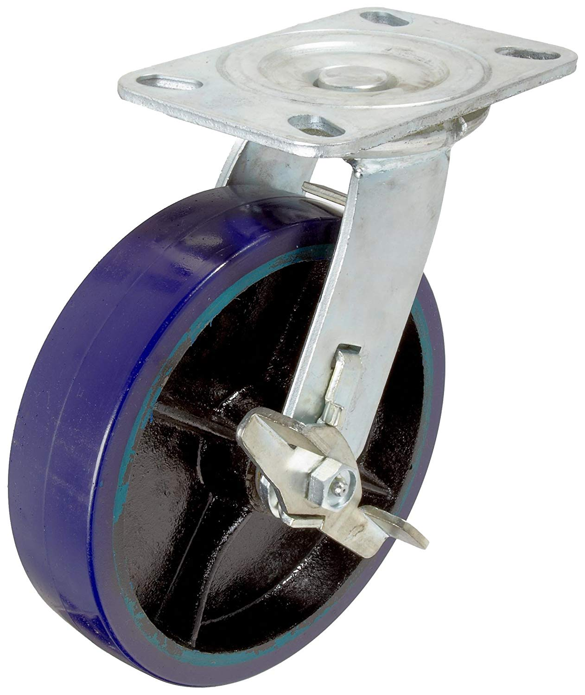 2-5//8 Plate Width 5 Wheel Dia RWM Casters VersaTrac 27 Series Plate Caster Ball Bearing Swivel 300 lbs Capacity TPR Rubber Wheel Thread Guard 6-5//16 Mount Height 3-3//4 Plate Length 1-1//4 Wheel Width