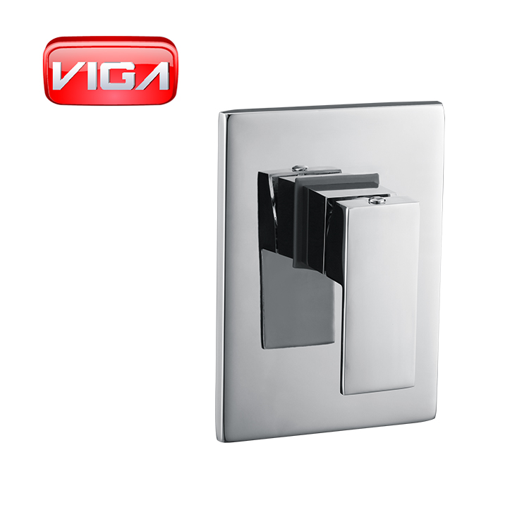 bathroom embedded concealed brass shower mixer Wall-in square faucet