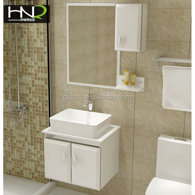 Promition Factory Price White Small Easy Installation Bathroom Wall Mounted  Vanity Cabinet