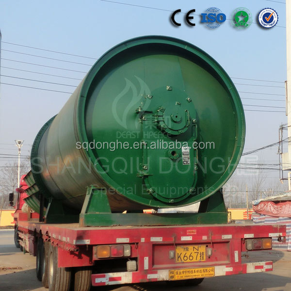 New technology waste tyre prolysis equipment with CE ISO no pollution