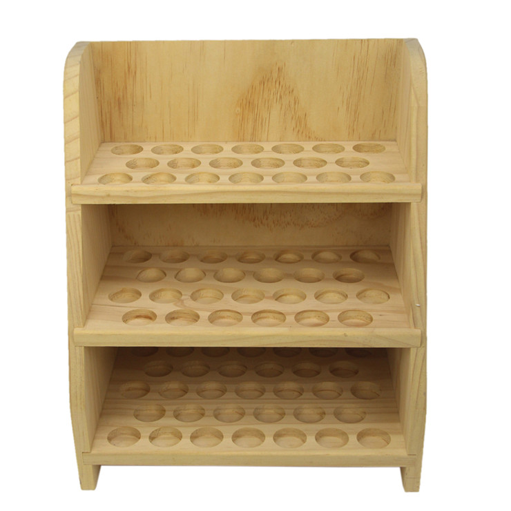Accept OEM essential oil bottle wooden storage display rack