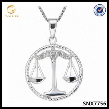 Zodiac Libra Astrology Horoscope Necklace Jewelrybirthday Gift