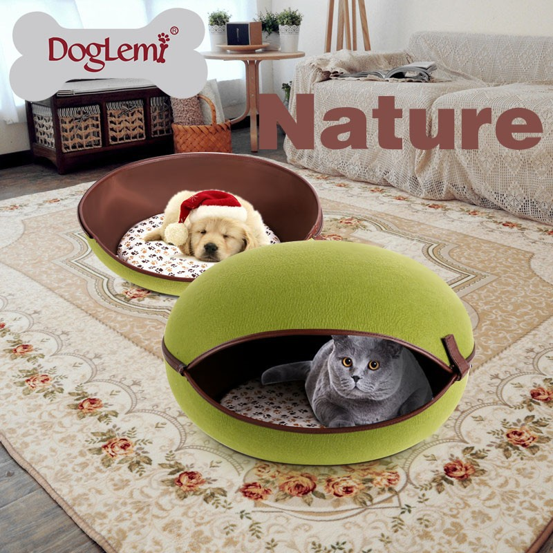 Foldable Egg Shaped Felt Cat Bed Cave Outdoor Cat Pet House