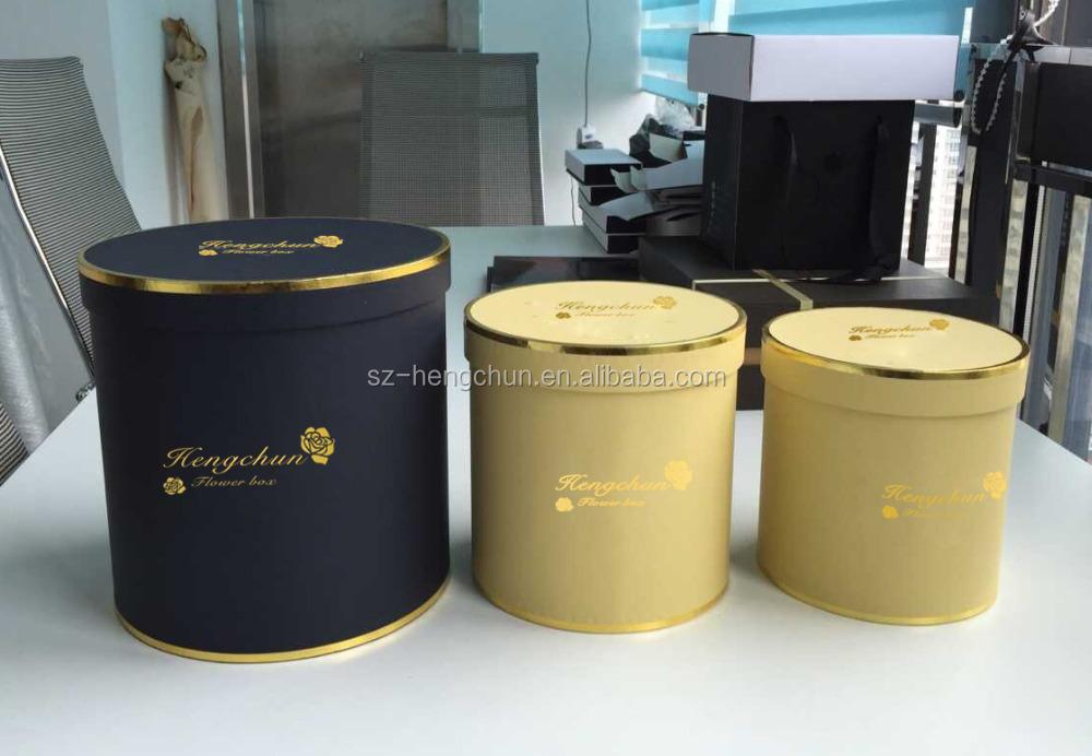 Cylinder Gold Stamping Logo Flower Box Zj 60056 5 Buy