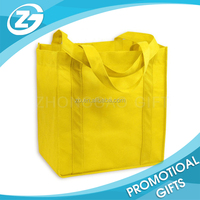 personalized handle yellow pp non woven bag