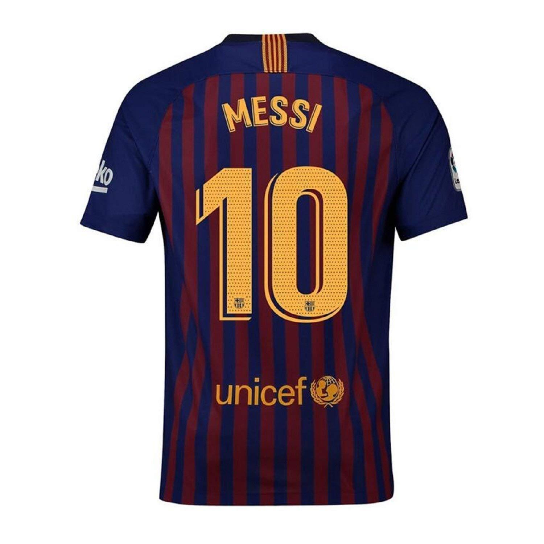 390cd839b6b Get Quotations · Fiueker Men s Messi Jerseys Barcelona  10 Soccer Jersey  2018 2019 Home Shirt (XL