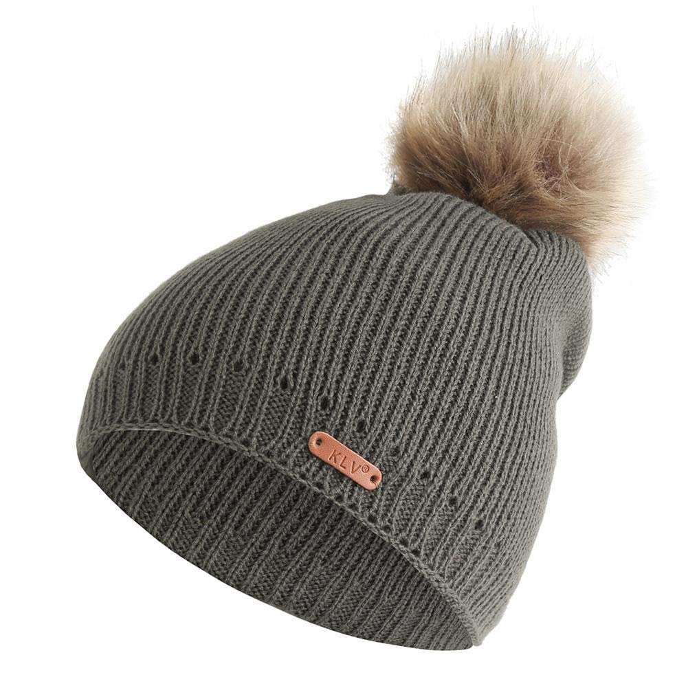 a034bb1293bd5 Get Quotations · Amazingdeal Women Stripe Winter Warm Hat Pompom Beanie  Knitted Cap Casual Gift