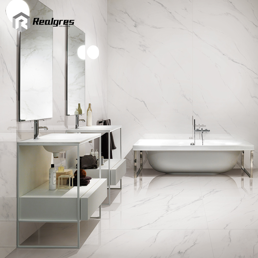 1200x2400 Size Cheap Bathroom Wall Tile Ceramic White
