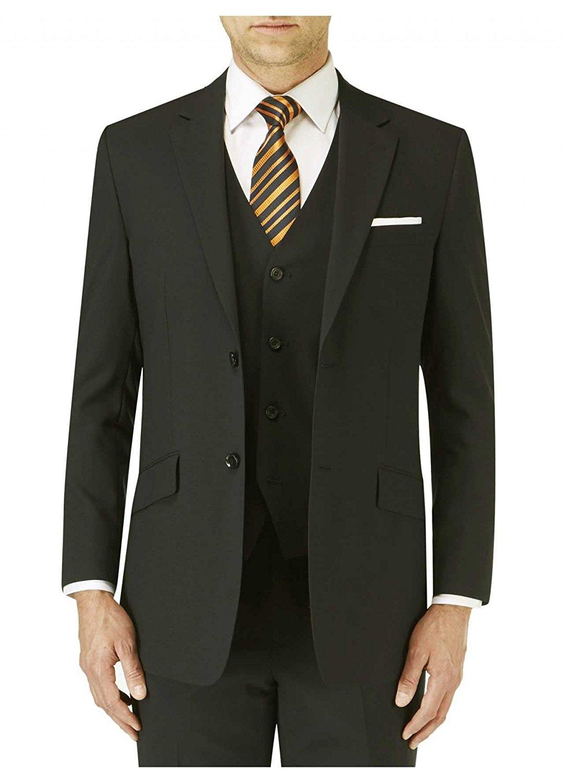 SKOPES Wool Rich Darwin Black Suit Jacket in Size 34 To 62, S/R/L