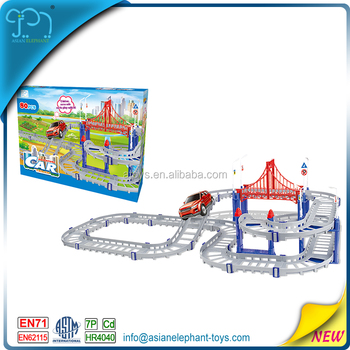 80 pcs rc car race track for kids magic track car toy for boys race track