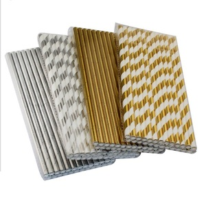 2018 New Party Crazy Sell Gold Foil Paper Straws