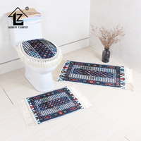 Bathroom Rugs Set,Toilet Cover And Rug Set