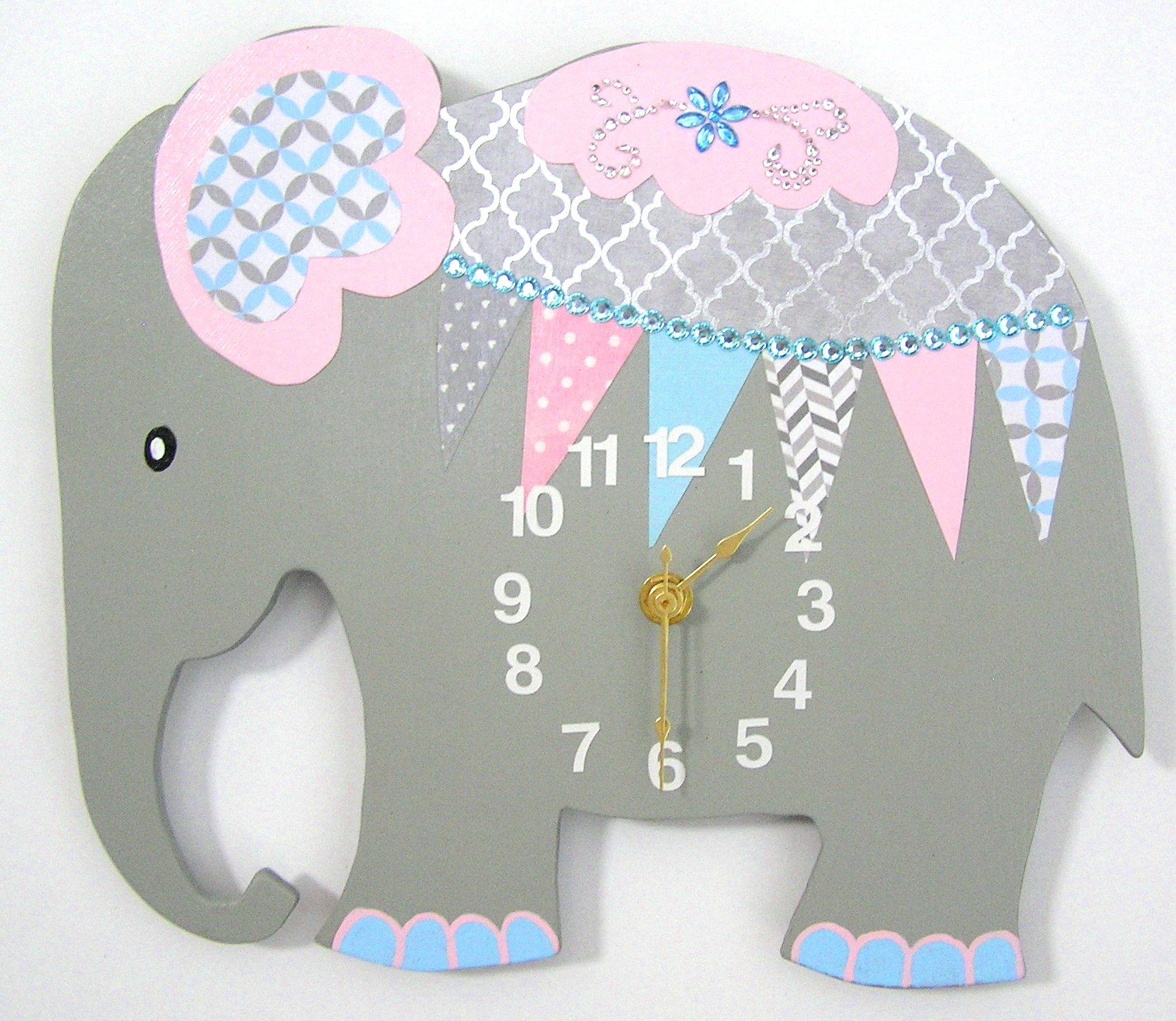 Get Quotations Nursery Clock Elephant Wall Kid S