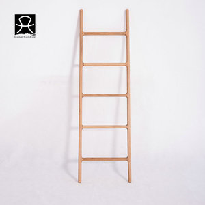 Multipurpose Towel Ladder Bathroom Corner Freestanding Wooden Towel Rack