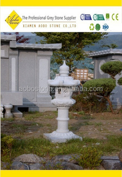 Outdoor Garden Decor Granite Lantern, Japanese Stone Lanterns