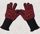 Hot Selling 14 Inch Forearm Protection 932F Extreme Heat Resistant Gloves Silicone printing BBQ Grill Mittens Oven Gloves