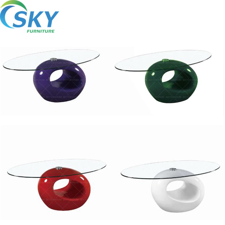 oval glass coffee table elephant, hotel high gloss coffee table