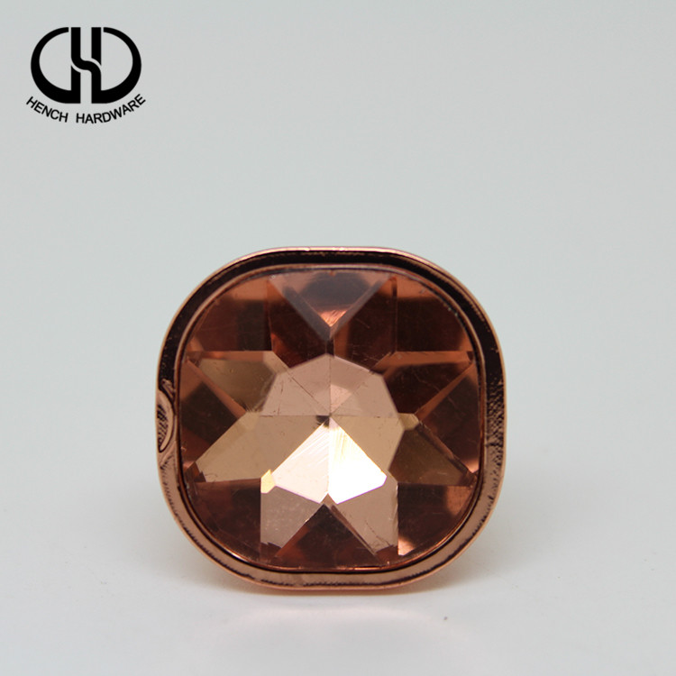 Trade assurance ceramic door wooden diamond crystal handle knobs