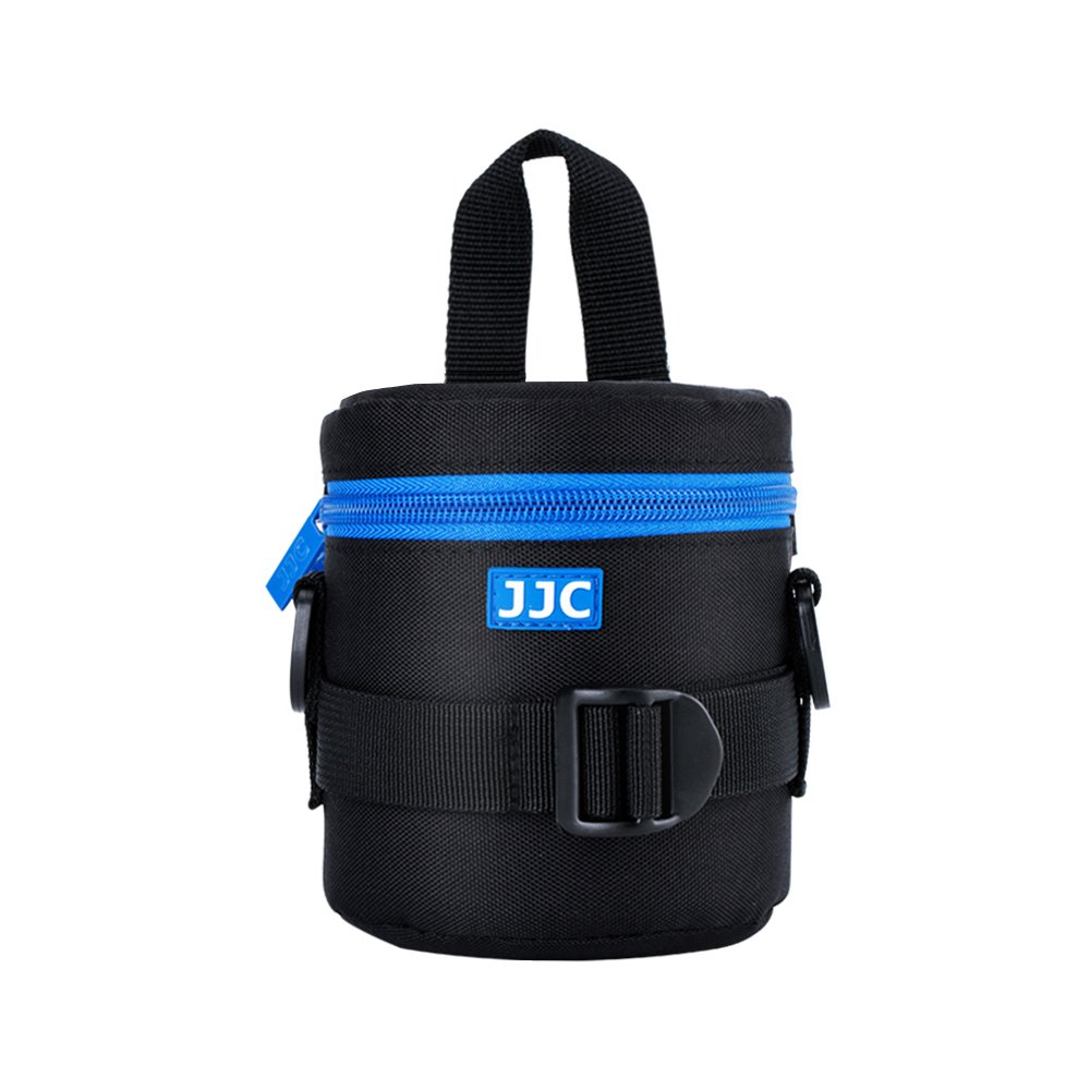 "JJC Deluxe Lens Case Pouch Bag for Canon EF-S 18-55mm/10-18mm/18-135mm/55-250mm,Nikon AF-S 18-55mm/50mm,Fuji Fujifilm Fujinon XF 18-135mm and other Lens below 3.07"" x 4.92""(D x L)"