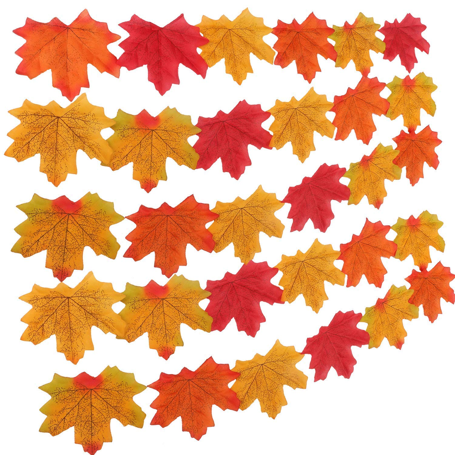 GiBot 400 Pcs Artificial Maple Leaves Fall Leaves Silk Leaves Multiple Colour Simulation Faux Autumn Leaves Perfect Natural Autumn Decorations,Suitable for Thanksgiving Decor