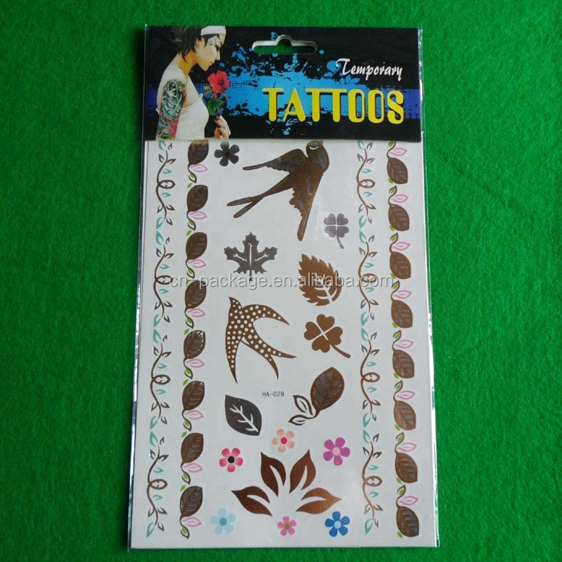 body arts swallow designs body personal care beauty metallic gold flash temporary gold foil tattoo sticker