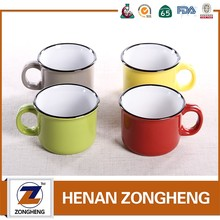 China manufacturer 8oz ceramic material enamel coffee mug wholesale