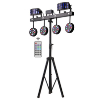 Professional Portable Dj Lights Disco Dj Equipment 4pcs 12x1w RGBW 4in1 Led Par Bar Stage Lighting With Stand