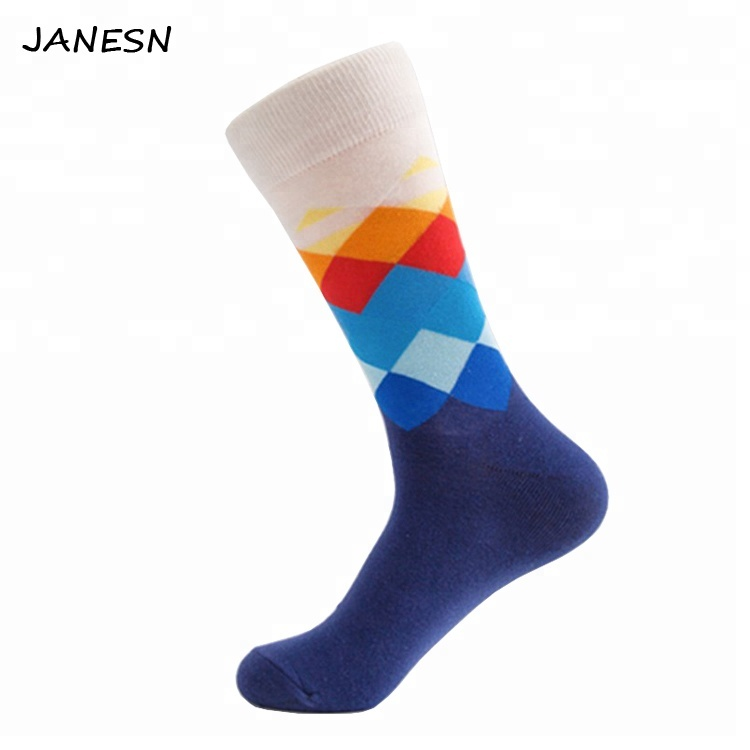 Hot sale Colourful World Famous Painting Pattern Funny Custom Made Design Happy Socks for Men