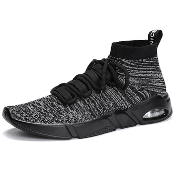2018 Knit Mesh Sock Running Shoes Mens Air Sports Sneakers High Top