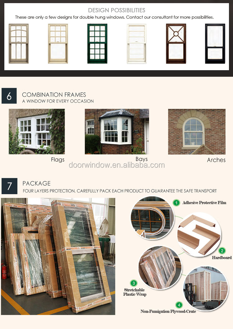 American Customized Thermal Insulation Aluminum Double Hung Windows,vertical windows