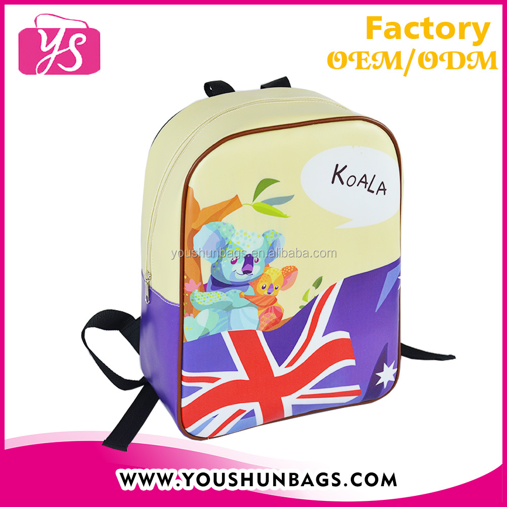 Wholesale custom design PU leather cute images of school bags for kinds used