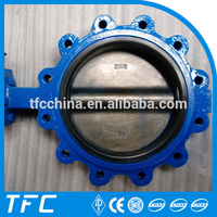 Factory price 4 inch butterfly valves 12