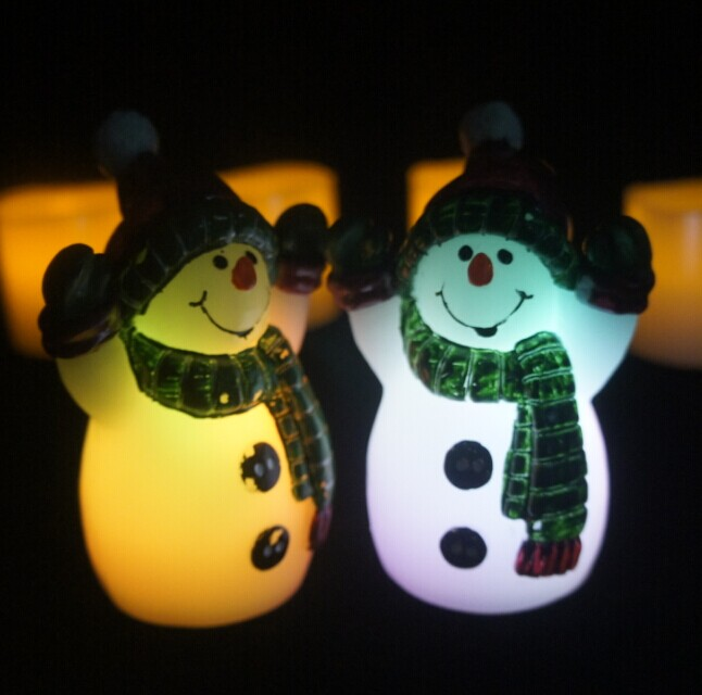 2015 new Christmas decoration Snowman candle,new innovative make a snowman costume