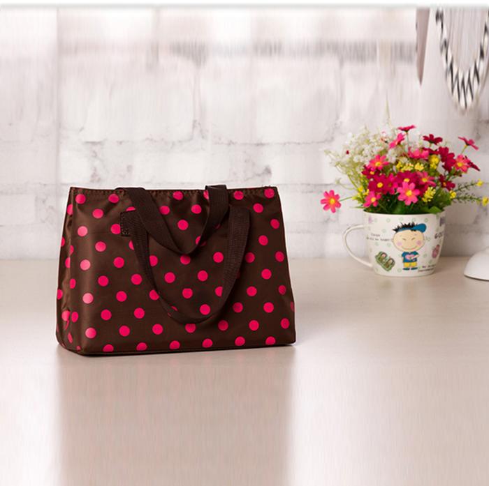 korean printing dot cosmetic bags for Women