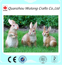 wholesale simulation animal lovely rabbit sculpture for Garden decoration