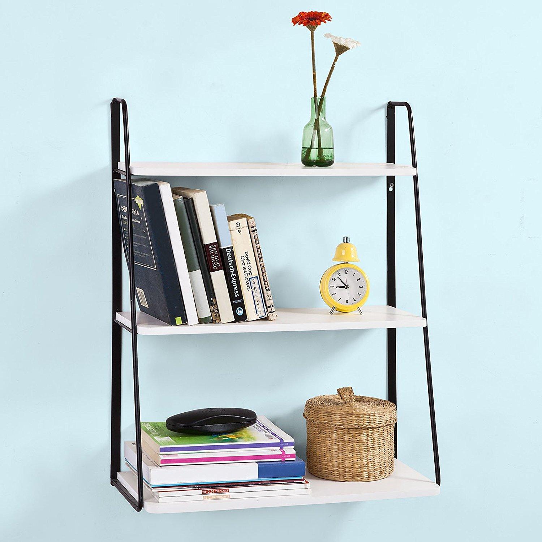 SoBuy Wall Shelves,Wall rack,Wall Cabinets ,Wall-Mounted Cabinets ,Storage Racks, Kitchen Rack, Living Room Wall Shelf (FRG176-W)
