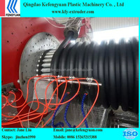 Plastic HDPE Krah pipe making machine extrusion machine for sale made in China machine manufacture