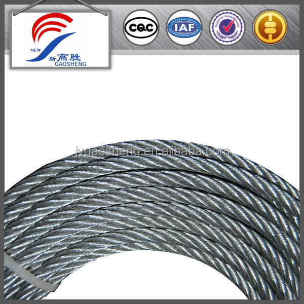 6*19+IWRC Factory Price galvanized steel wire rope